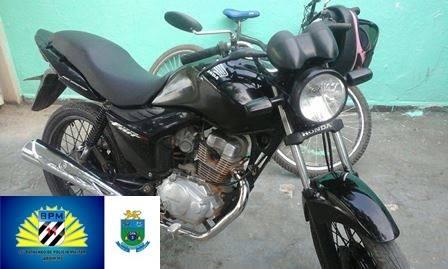 Polícia Militar de Porto Murtinho recupera motocicleta furtada e prende autor