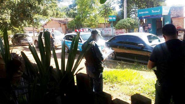 Carro roubado em Porto Mrtinho e recuperado em Bella Vista Norte Paraguai