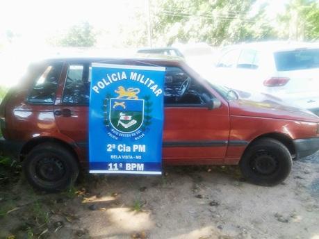 PM prende carro com placa adulterada