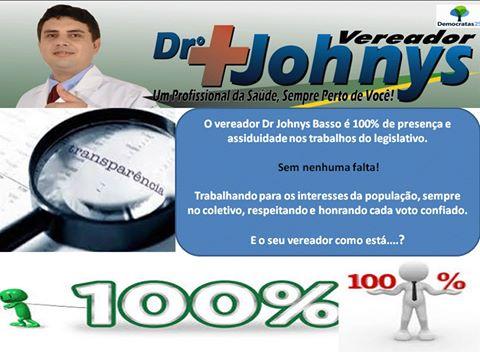 Vereador Dr. Johnys tem 100% de presença nas sessões