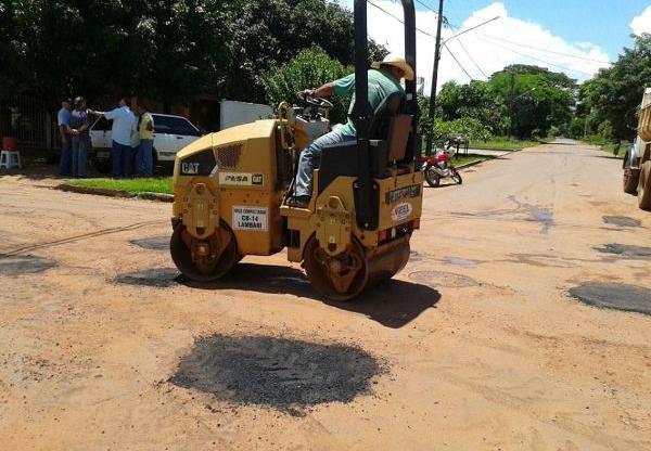 Prefeitura de Bela Vista reiniciou tapa-buraco