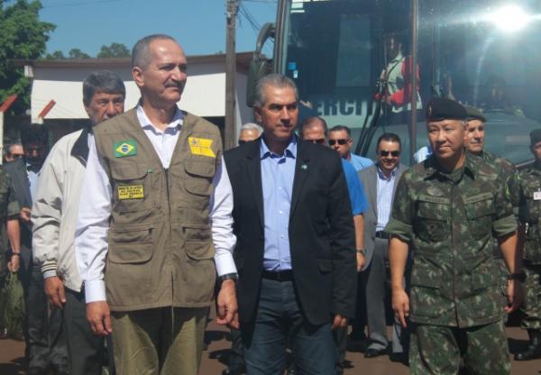 Em Dourados, Reinaldo e ministro da Defesa elogiam Sistema de Monitoramento de Fronteiras