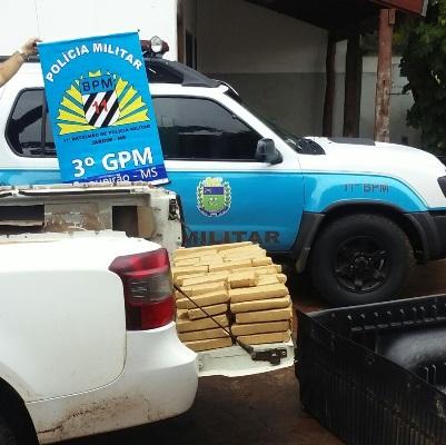 PM do Boqueirão prende carro com 76 quilos de Maconha