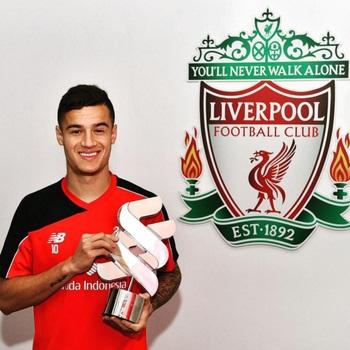 Philippe Coutinho é escolhido o melhor jogador do Liverpool em março