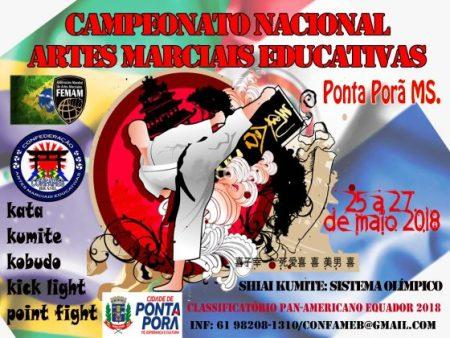Ponta Porã vai sediar Campeonato Nacional Artes Marciais Educativas