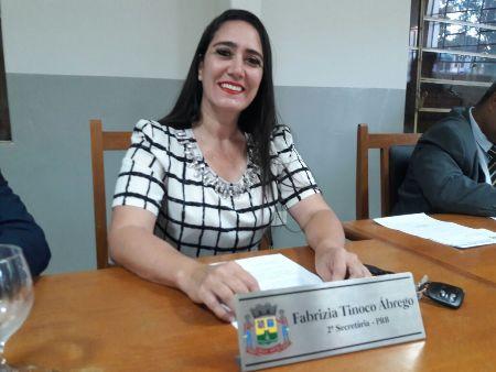 Vereadora Fabrizia Tinoco solicita curso de arbitragem