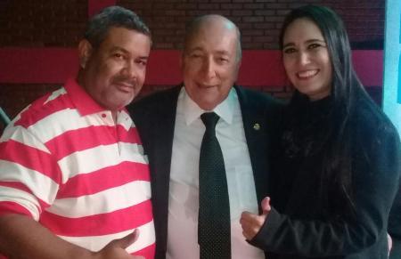 Vereador Hemerson Buiu e Fabrizia Tinoco prestigiam ato de filiação do Senador Pedro Chaves ao PRB