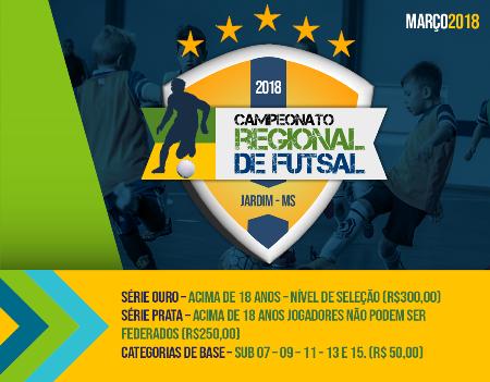 Prefeitura de Jardim abre inscrições para o Campeonato Regional de FUTSAL