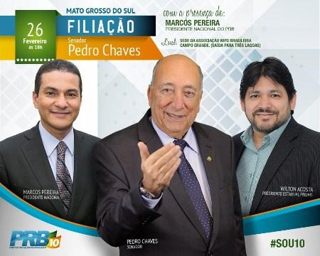 Lideranças políticas prestigiam filiação de Pedro Chaves ao PRB
