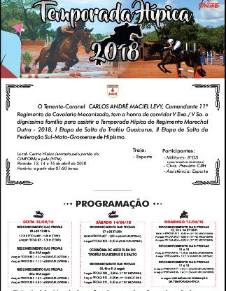 Ponta Porã vai sediar 2ª Etapa de Salto da Federação Sul-Mato-Grossense de Hipismo