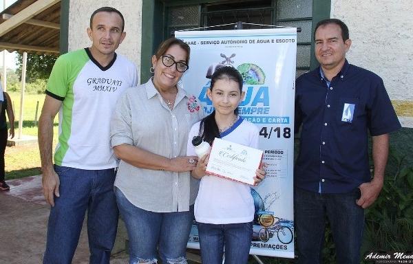 Aluno da escola Santa Marina ganha o 1º Concurso de carta realizado pelo SAAE