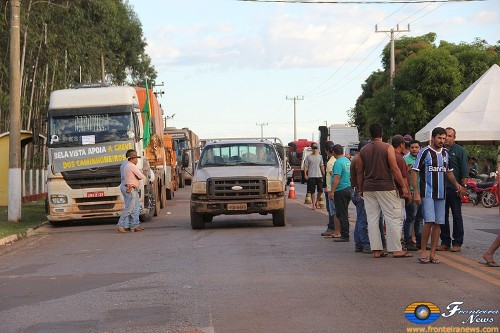 Paralisação dos caminhoneiros ganha adesão de caminhoneiros de Bela Vista