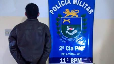 PM de Bela Vista prende indivíduo por Porte Ilegal de Arma de Fogo