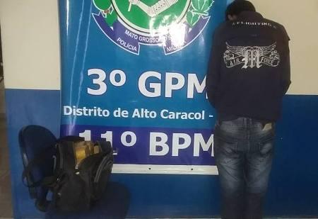 Polícia Militar de Alto Caracol apreende mais 14Kg de Maconha e prende autor do Tráfico