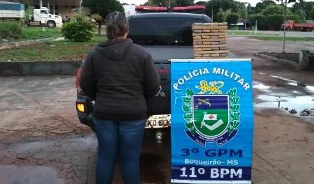 PM do Boqueirão apreende mais 30Kg de Maconha e prende autora do Tráfico