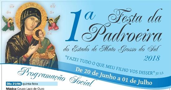 1ª Festa da Padroeira de MS tem início nesta quarta-feira