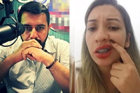 Vídeo: dona de jornal denuncia agressões do marido jornalista: 'não foi a primeira vez'