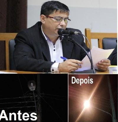 Após pedido do vereador Xitinho Rua Visconde de Taunay recebe iluminação