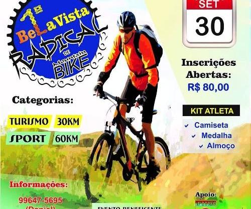 Aberta as inscrições para o 1º Bela Vista radical de Mountain Bike