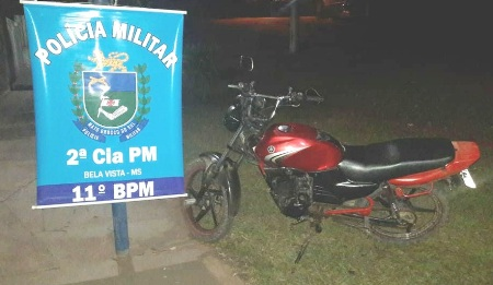 PM de Bela Vista apreende motocicleta com sinal adulterado durante abordagem