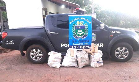 PM do distrito de Boqueirão prende três traficantes transportando aproximadamente 96 Kg de maconha