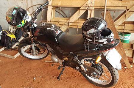 Polícia Militar de Nioaque recupera motocicleta, produto de apropriação indébita