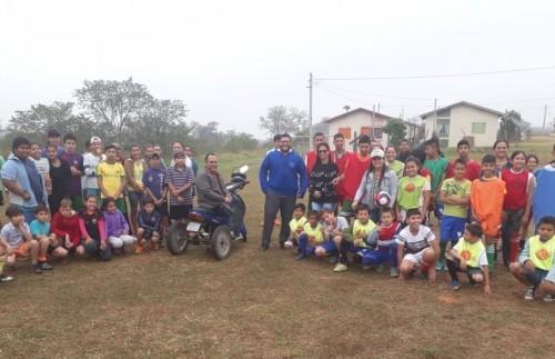Confraternização entre alunos do SCFV de Caracol e Alto Caracol.