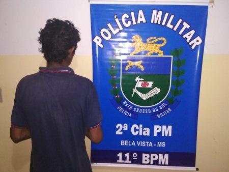 Polícia Militar de Bela Vista prende em flagrante autor de furto