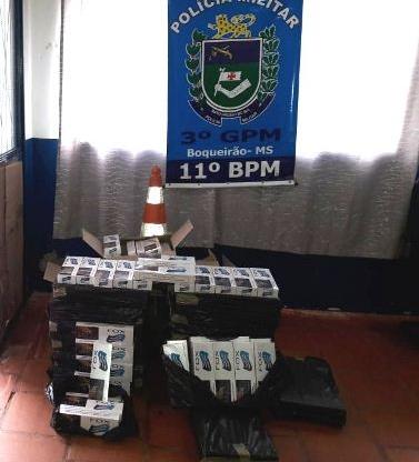 Polícia Militar do Distrito de Boqueirão apreende 260 pacotes de cigarros oriundos do Paraguai