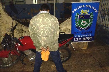 Polícia Militar de Nioaque realiza diligências e recupera motocicleta furtada