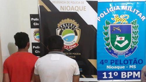 Polícia Militar de Nioaque, em conjunto com Polícia Civil, encaminha 4 pessoas à Delegacia, por Abigeato