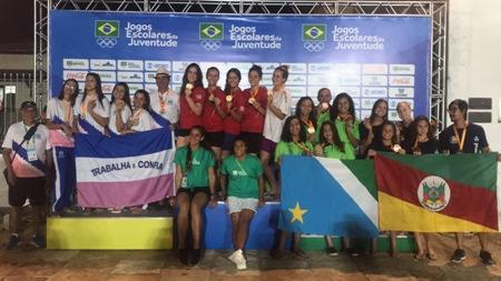 Natação do MS garante ouro no primeiro dia competição dos Jogos Escolares da Juventude