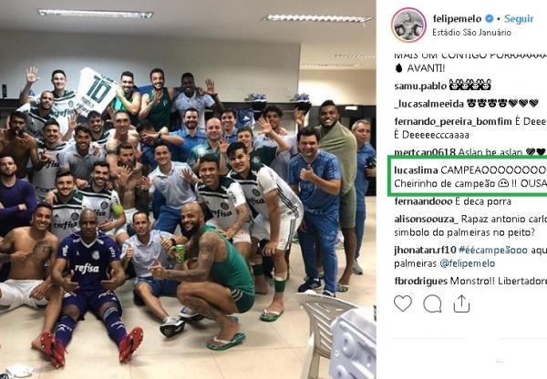 """Lucas Lima provoca o Flamengo após título do Palmeiras: """"Cheirinho de campeão"""""""