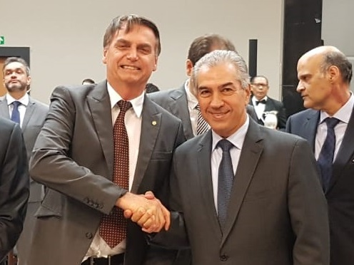 Em encontro com Bolsonaro, Azambuja defende fronteira e reajuste da tabela SUS