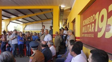 Em Maracaju, governador ressalta investimentos no Corpo de Bombeiros e credibilidade da instituição