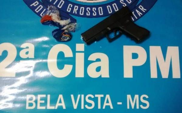 Polícia Militar de Bela Vista prende autor por Tráfico de Drogas