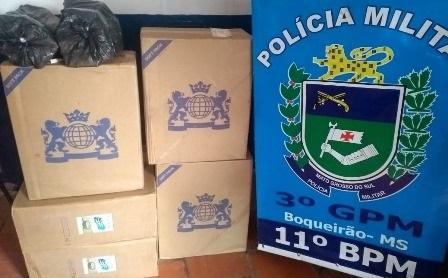 Polícia Militar apreende 260 pacotes de cigarros contrabandeados durante abordagem no distrito de Boqueirão