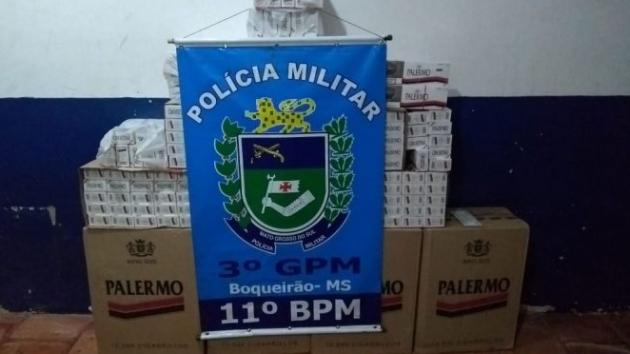 Polícia Militar apreende 395 Pacotes de Cigarros Contrabandeados em Boqueirão