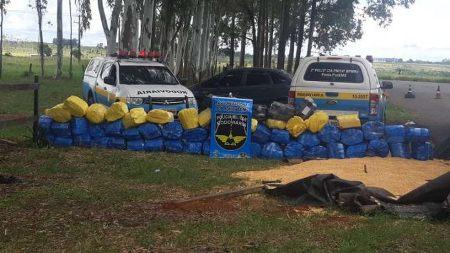 Polícia apreende 1,34 tonelada de maconha em carga de milho