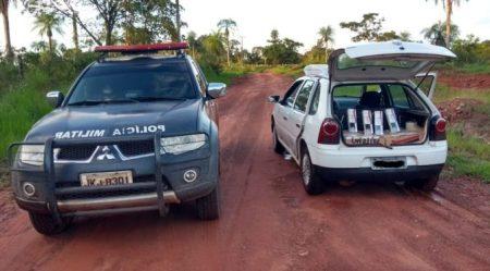 Polícia Militar apreende 175 pacotes de cigarros durante policiamento no distrito de Boqueirão