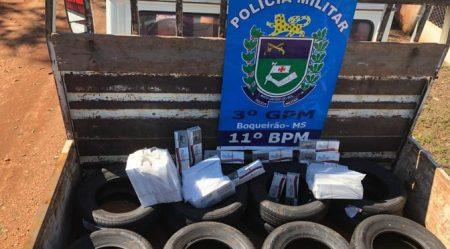 Durante abordagem, Polícia Militar apreende produtos de Descaminho e Contrabando no distrito de Boqueirão