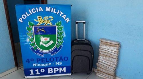 Polícia Militar apreende adolescente por Tráfico Internacional de Drogas em Nioaque