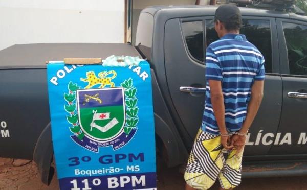 Polícia Militar prende homem por Tráfico de Drogas, no Distrito do Boqueirão