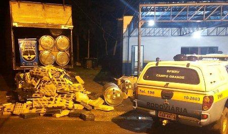 Polícia de MS apreende 1,6 tonelada de maconha escondida em aquecedores solares