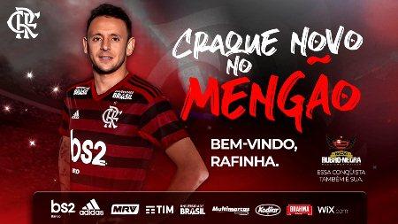 Flamengo oficializa a contratação do lateral-direito Rafinha por dois anos