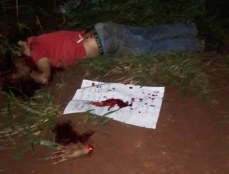 Assaltantes são executados e têm as mãos decepadas na fronteira