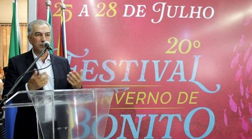 Festival de Bonito deixou de ser da música para ser multicultural, destaca Reinaldo Azambuja