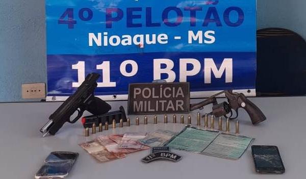 Polícia Militar impede Roubo à Agência dos Correios em Nioaque e prende três autores em flagrante
