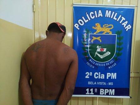Polícia Militar recaptura um evadido do sistema prisional e cumpre mais um mandado de prisão durante rondas em Bela Vista