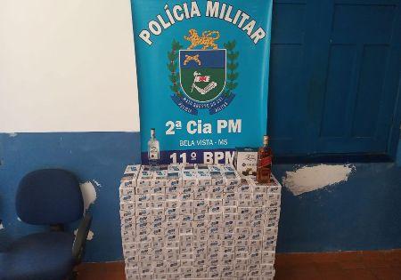 Polícia Militar apreende produtos de Contrabando e Descaminho em Bela Vista